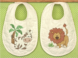 Kimba Stamped Baby Bibs Kit