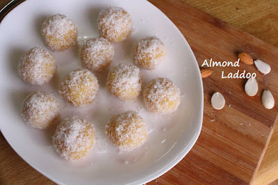 badam ladoo almond laddu sweet recipes festival coconut ladoo healthy