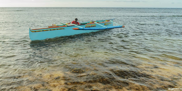 Pinget Island Puro Beach Outrigger Motorboat What a Lucky Day