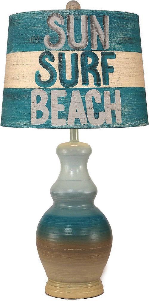 Sun Surf Beach Table Lamp