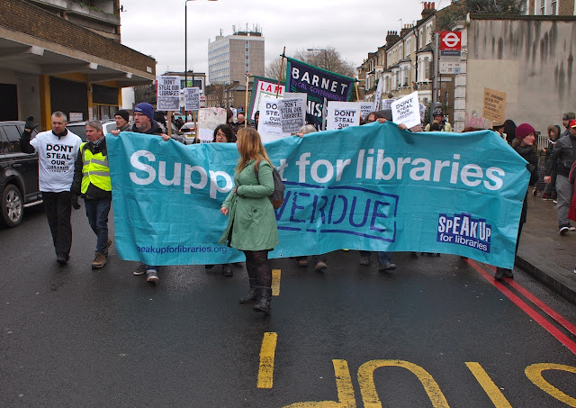 against threat from Lambeth Council to turn two libraries into gyms,  in Brixton, Saturday 5 March 2016