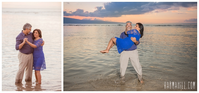 family portraits on the beach in hawaii