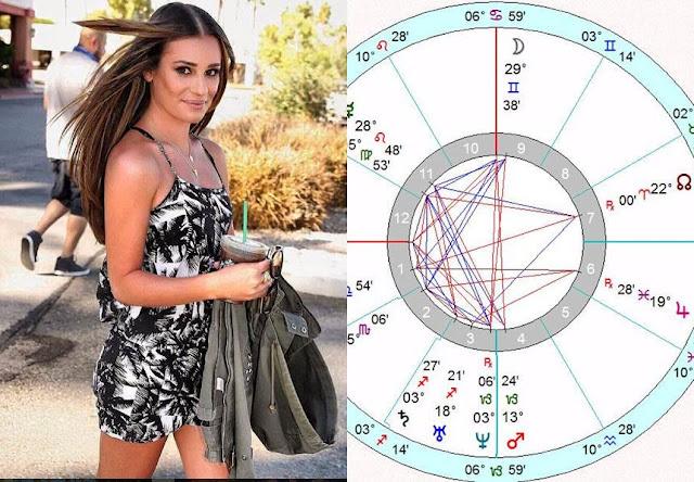 Lea Michele birth chart horoscope