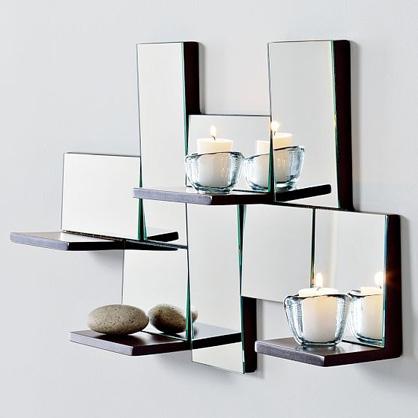 Luxury Bedroom Ideas: luxury and stylish modern wall ... on Wall Mirrors Decorative id=17065