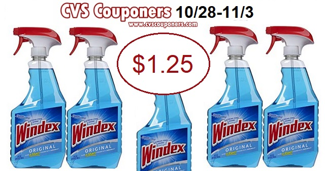 pay 1.25 for windex at cvs with cvs couponers