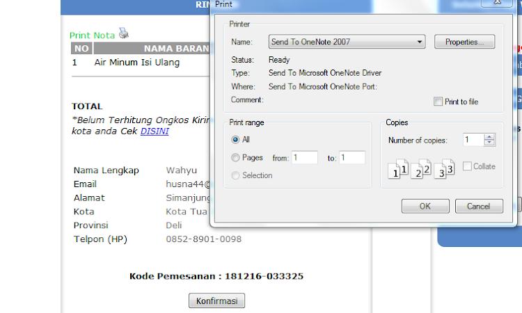Script PHP Perintah Untuk print
