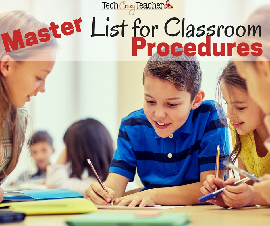 I am always looking for ways to establish routines and procedures in my classroom at the beginning of school. I have compiled a master list of classroom routines!