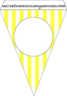 Banderines de Rosado y Amarillo  para imprimir gratis.