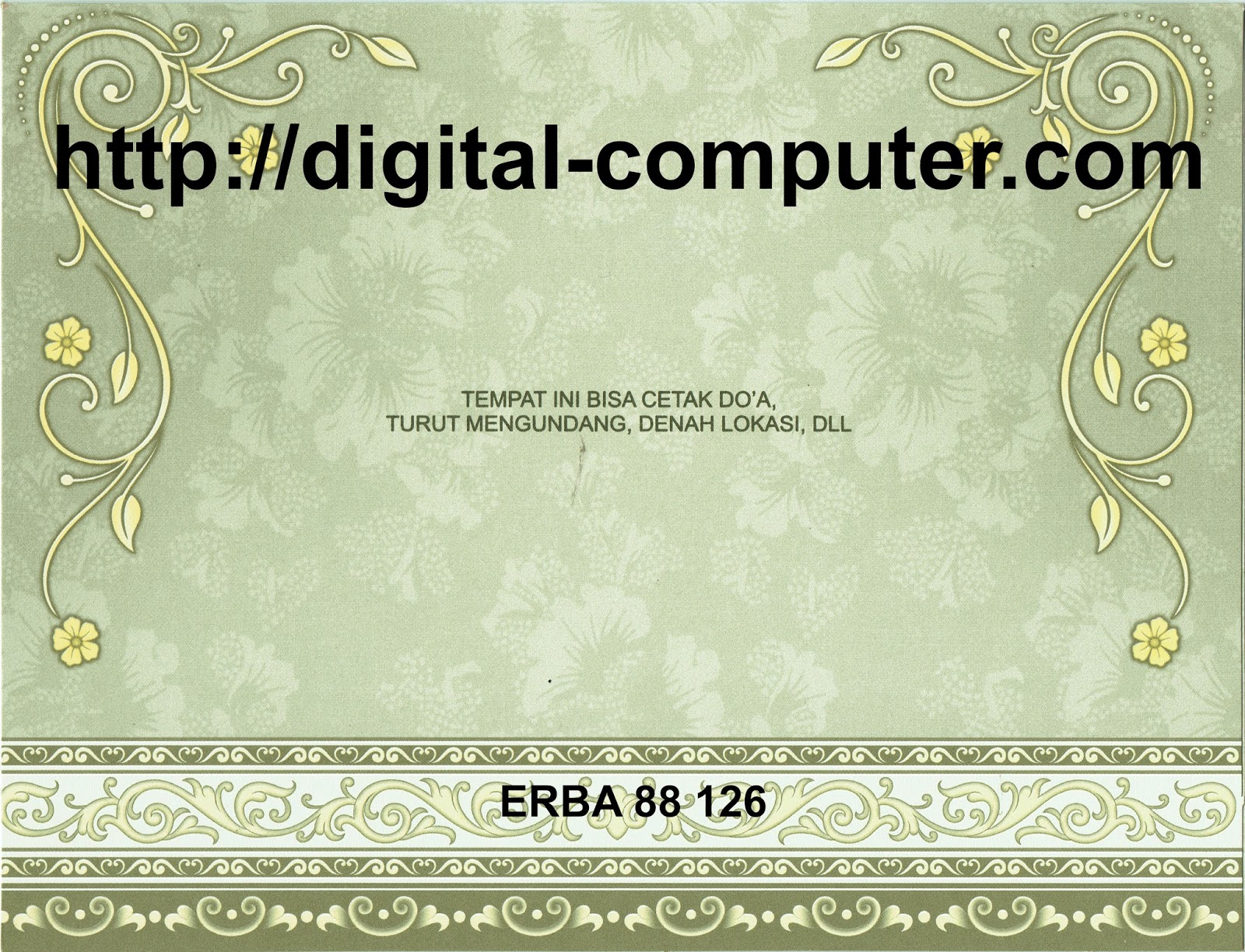 Undangan Softcover ERBA 88126