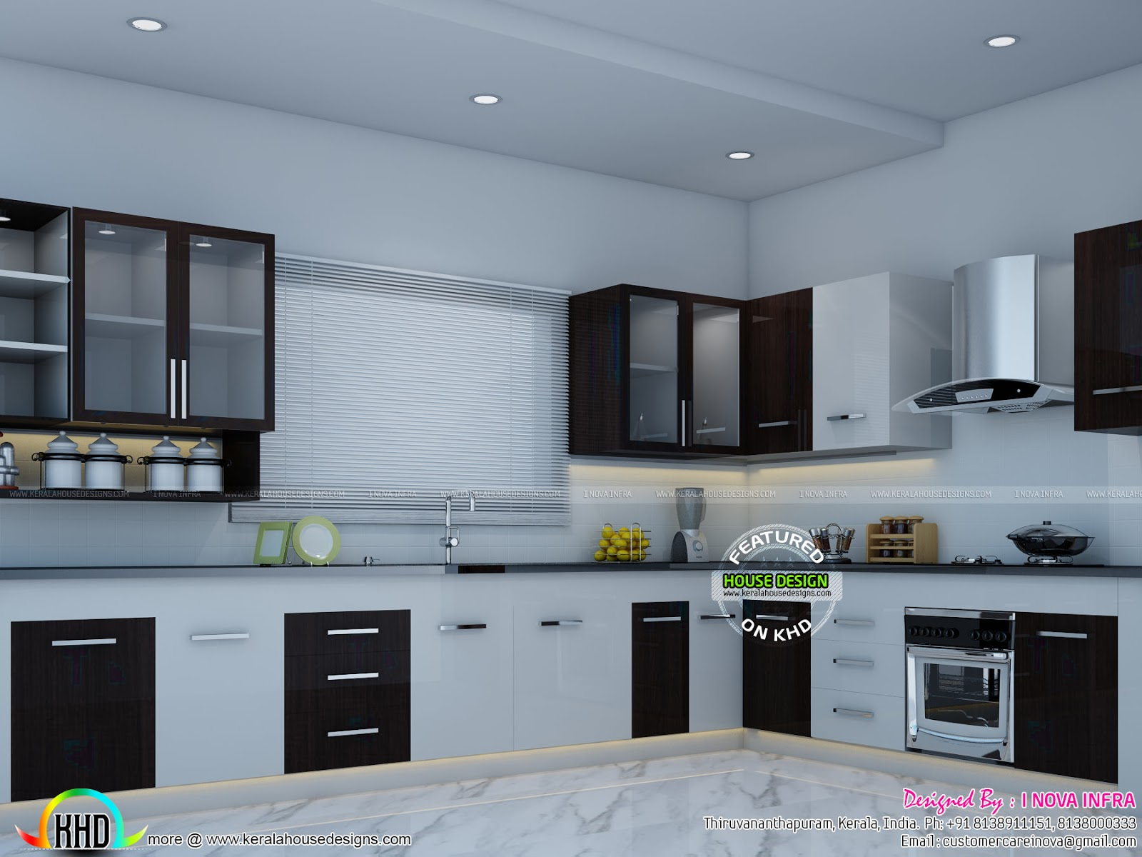 Kitchen interior works at trivandrum kerala home design for New kitchen designs in kerala