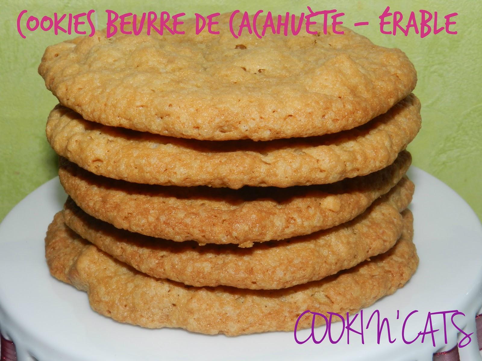 Cookies beurre de cacahuete erable sans lait sans gluten - Cookies beurre de cacahuete ...