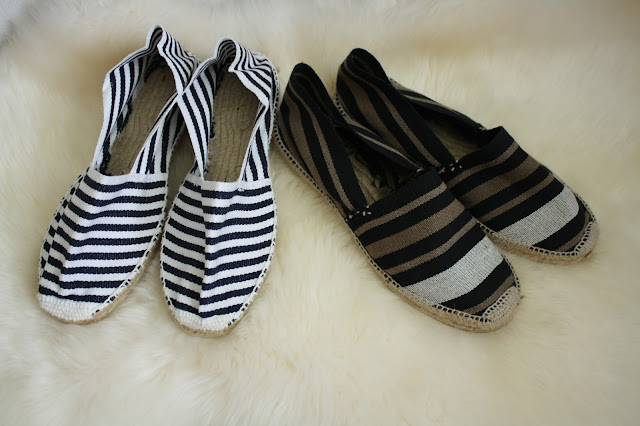 antigua casa crespo espadrilles striped sizing style olive navy shoes madrid spain