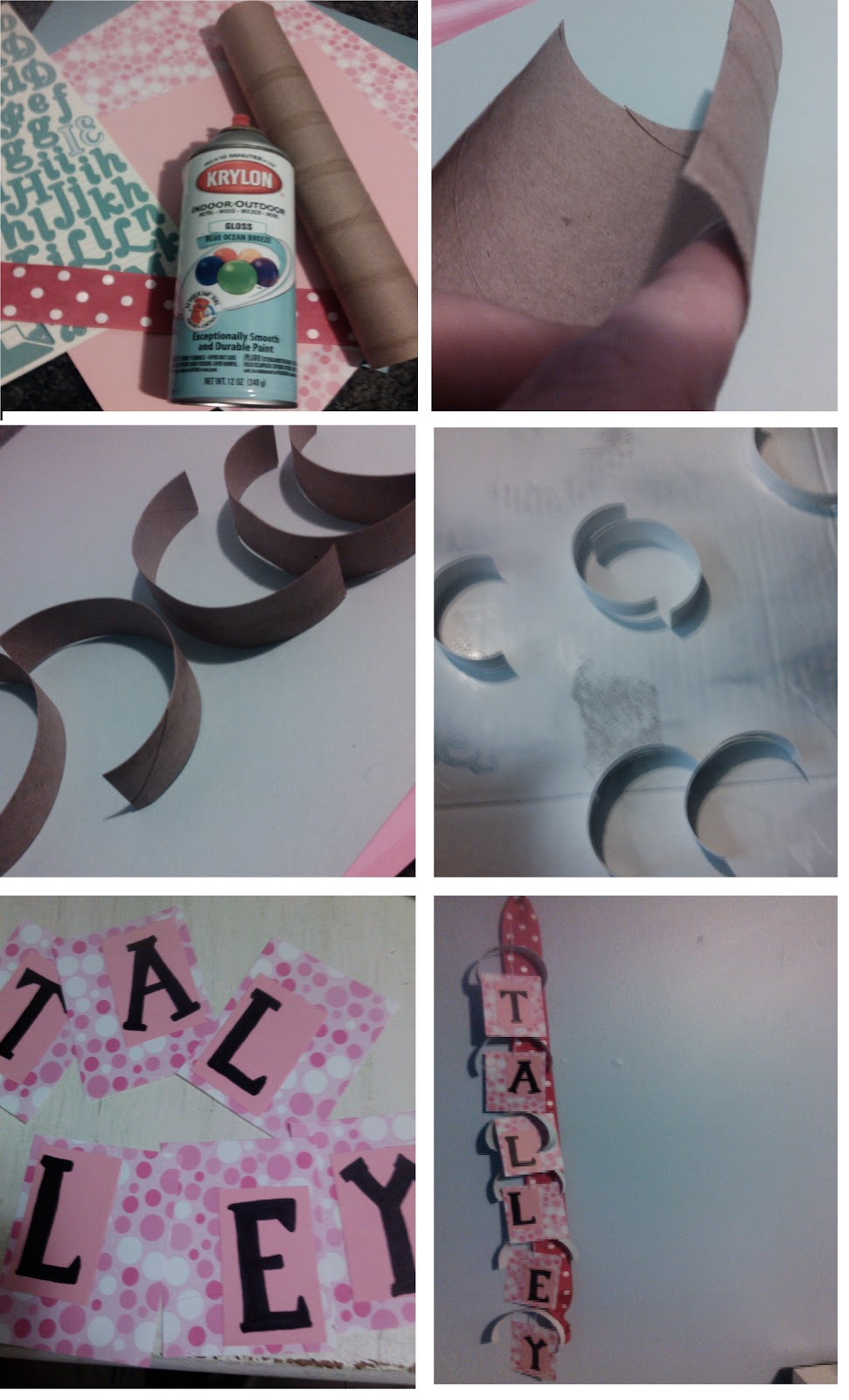 My American Confessions Friday Upcycled Diy Name Hanging