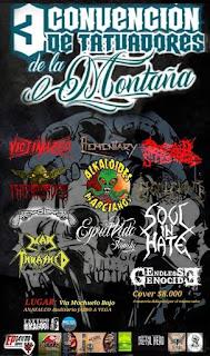 BANDAS 3ra Convencion De Tatuadores De la Montaña 2018