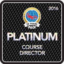 Camille received 10th consecutive Platinum PADI Course Director rating
