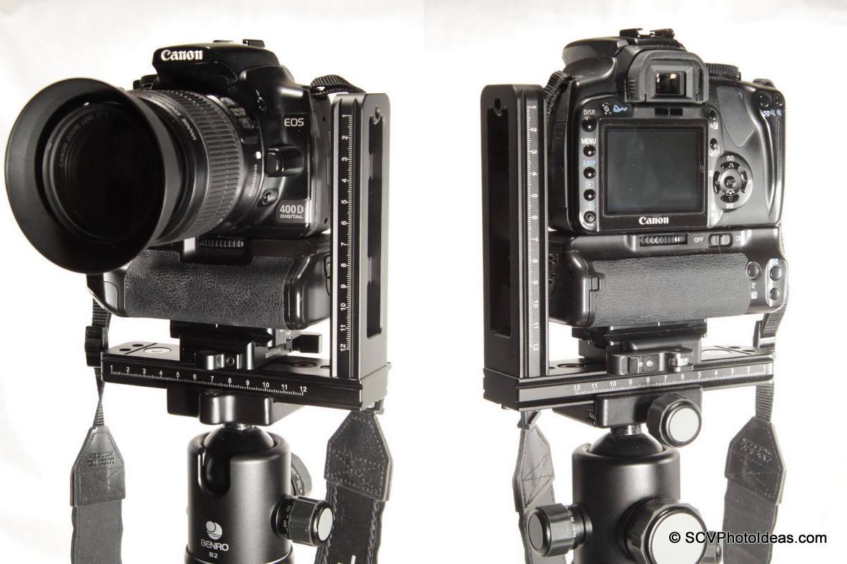 Benro MPB150T+Sunwayfoto DDC-42LR+Canon EOS 400D+BG-E3 - landscape front/back