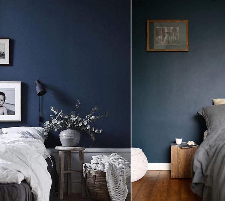 Esempi di camere da letto con le pareti di colore blu