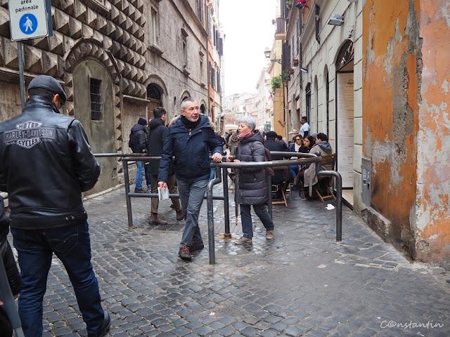 Una din intrãrile în zona Ghetoului evreiesc din Roma