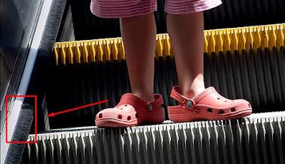Fungsi Sikat Yang Berada di Pinggir Eskalator