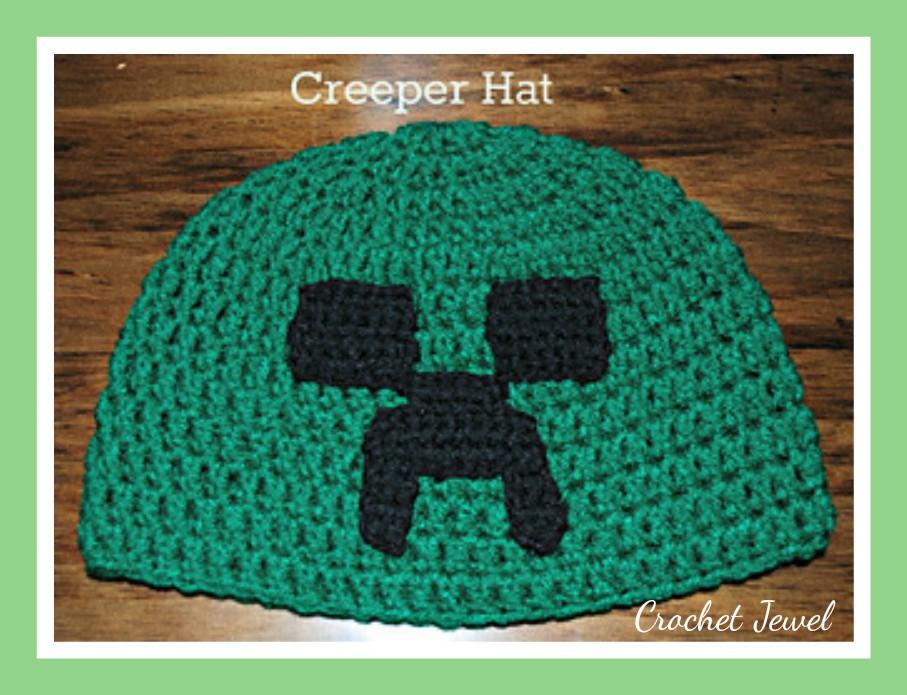 Amys Crochet Creative Creations Crochet Creeper Minecraft Hat All
