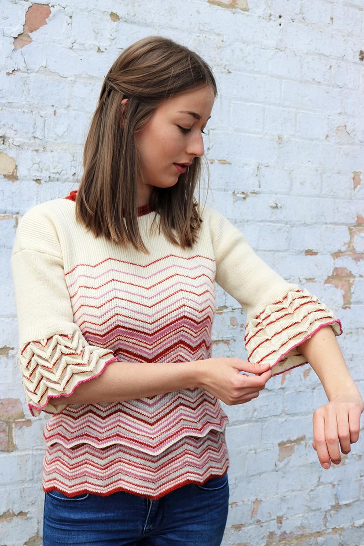Madeleine Alice Textiles origami knitting