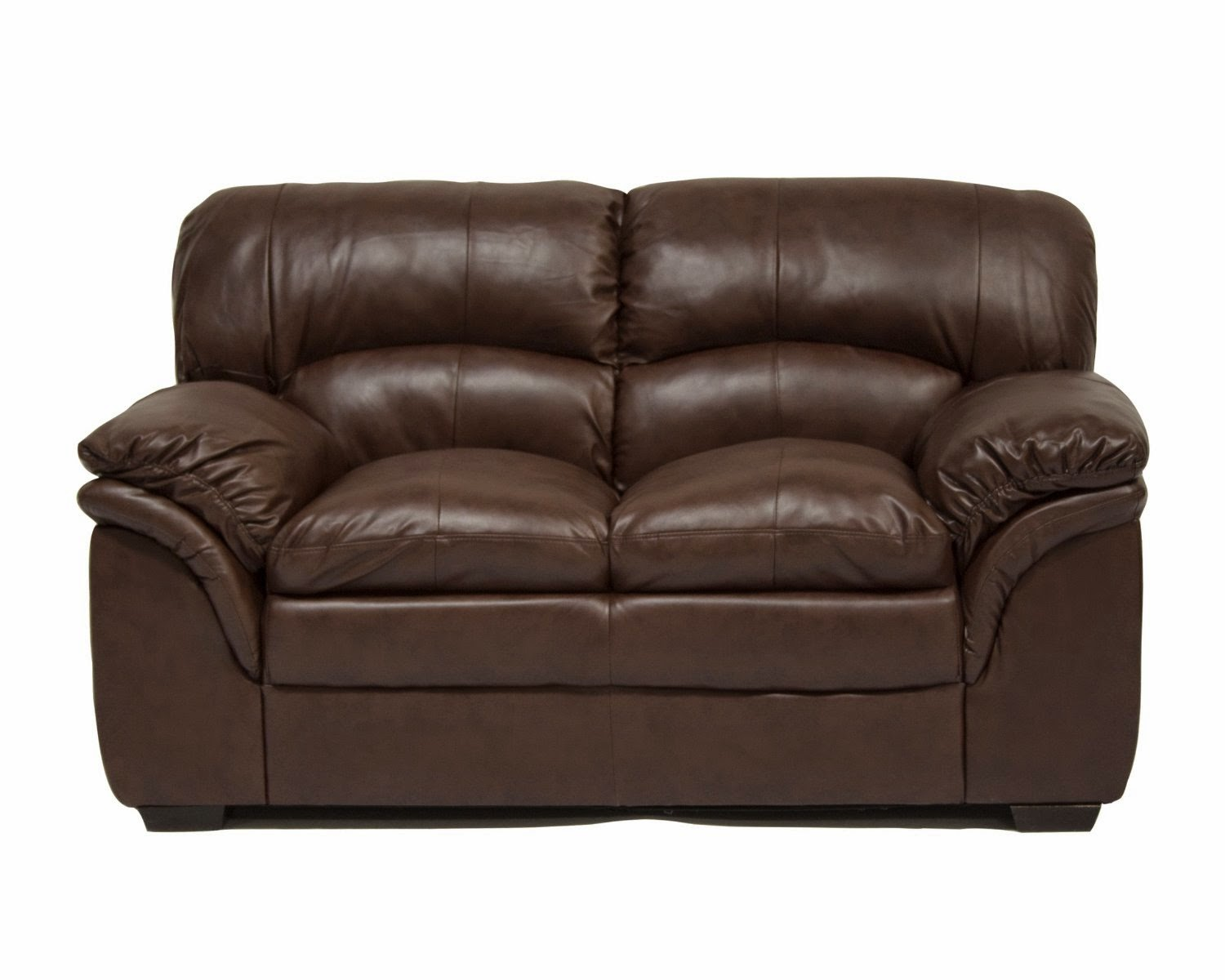 Ac Pacific Brown 2 Seater Leather Recliner Sofa Uk