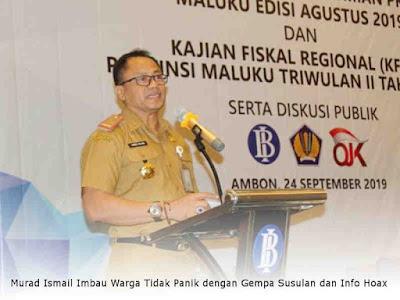 Murad Ismail Harap Pertumbuhan Ekonomi Pengaruhi Penduduk Miskin di Maluku