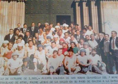 Cuadrilla de Los Gitanos en 1981