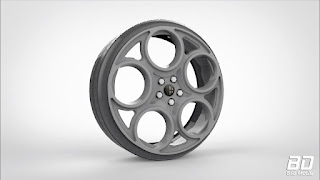 Download modelo 3d Roda Alfa Romeo para Zmodeler, 3ds max, blender