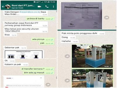 Pos Parkir Besi Pesanan PT Jumway Group Indonesia Serang Banten