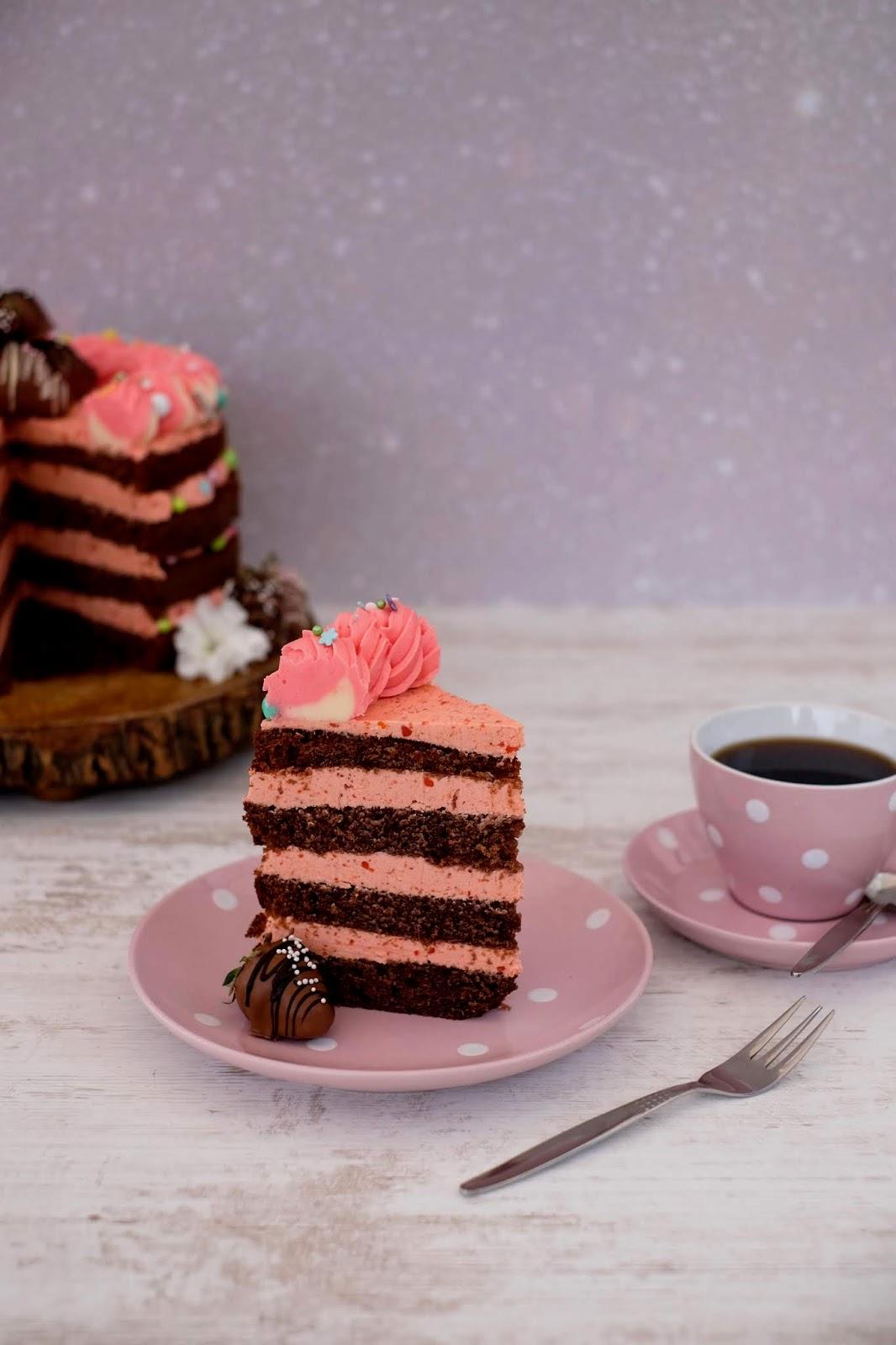 Schoko Erdbeer Naked Cake   Marion&39;s Kaffeeklatsch