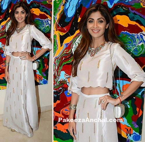 Shilpa Shetty in Crop Top & Straight Fit Skirt