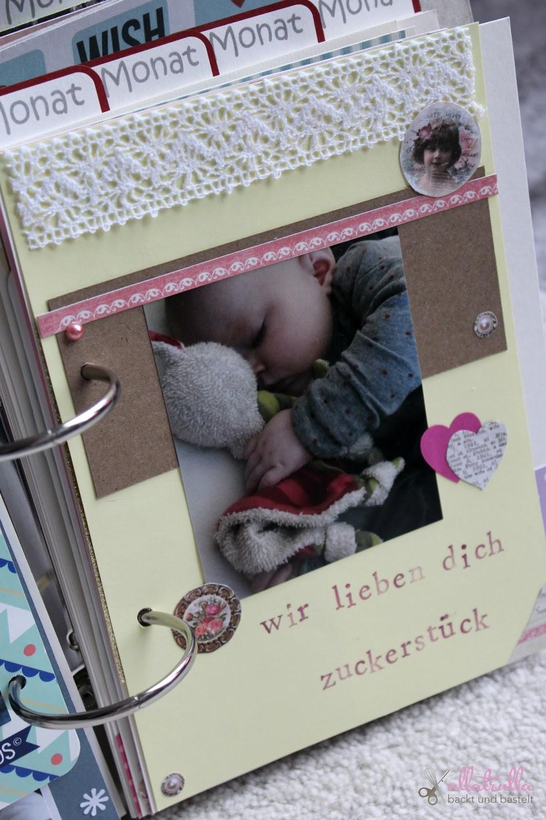 Ullatrulla backt und bastelt diy babyalbum selber - Fotoalbum selbst gestalten ...