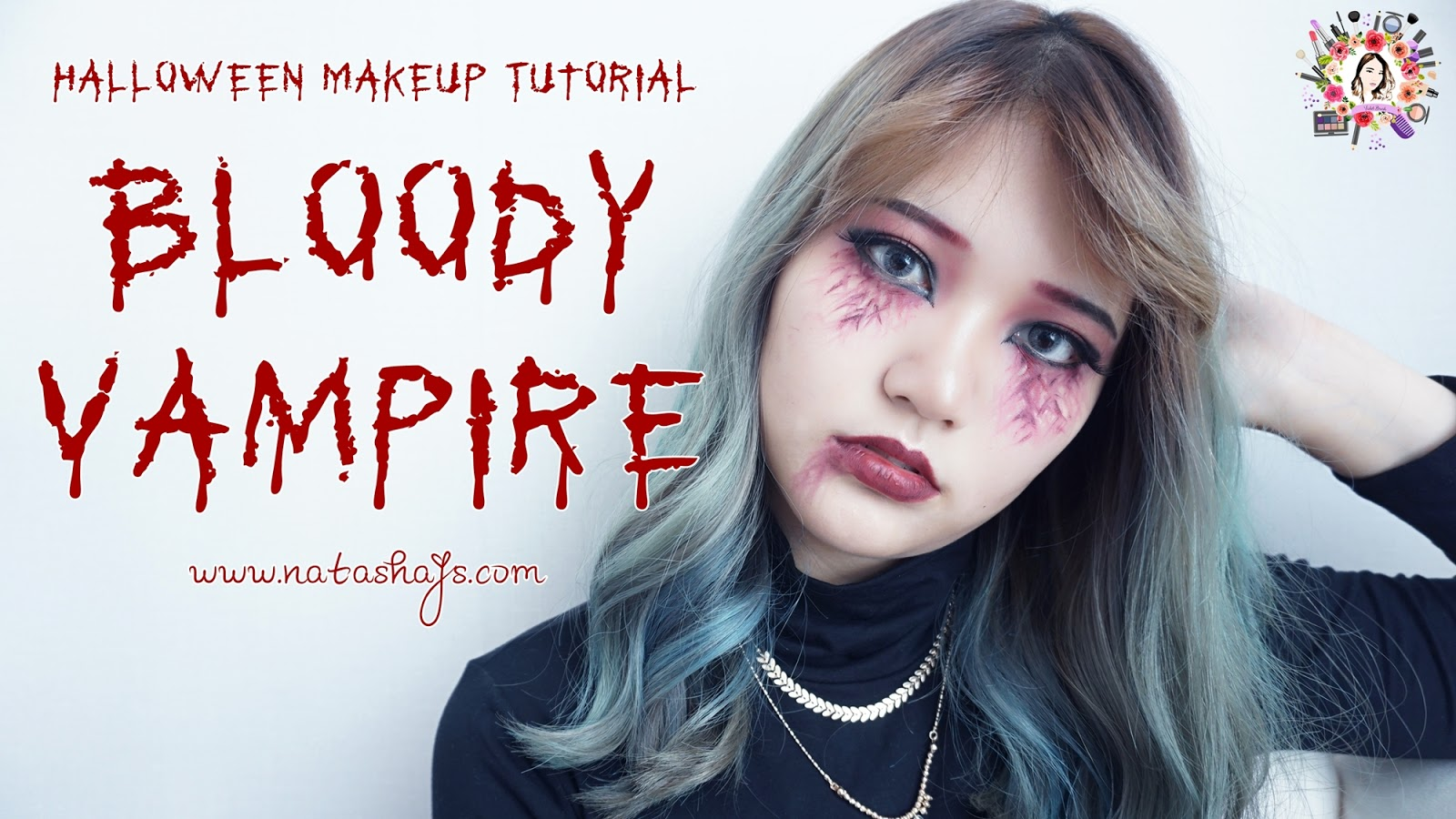 Violet brush indonesian beauty blogger halloween makeup halloween character makeup tutorial bloody vampire by indonesian baditri Image collections