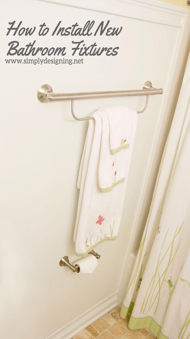 Stunning How to Install New Bathroom Fixtures diy bathroom bathroomremodel remodel