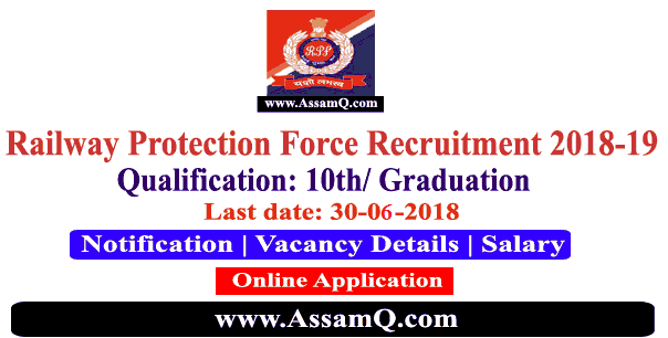 Railway Protection Force Constable, Sub-Inspector Recruitment 2018-19 [8619 Nos.]