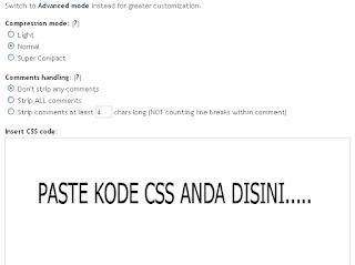 Cara Compress CSS,HTML Blog Agar Loading Cepat