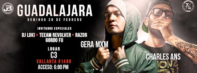 Regresan a la escena musical de   Guadalajara...   Gera MXM +Charles Ans