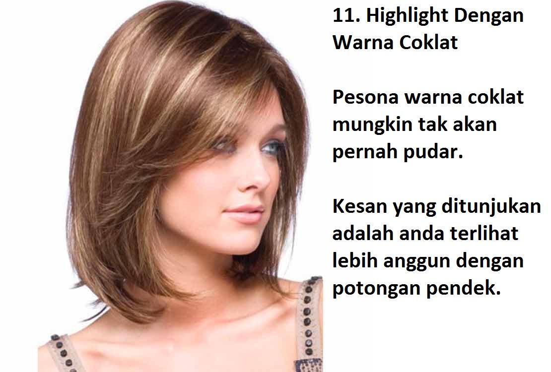 Blog Pendidikan Model Warna Rambut Highlight Untuk Rambut Pendek