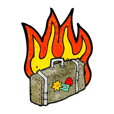 Fire on bag graphical