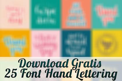 Download Gratis 25 Font Hand Lettering Phrases & Poster