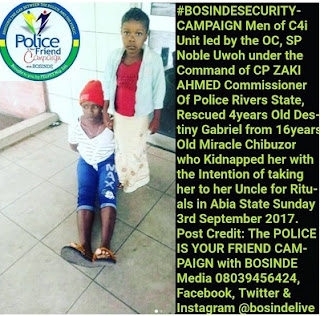 16 Year Old Female Kidnapper Who Abduct Victims For Her Uncle To Use As Rituals