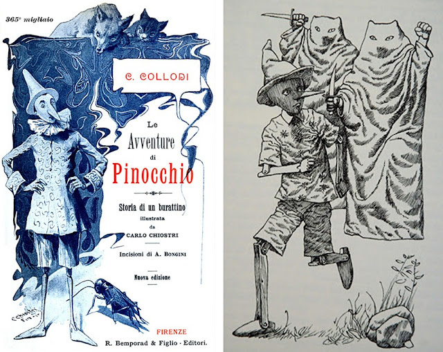 Ο Πινόκιο του Κάρλο Κολόντι σε παλιά εικονογράφηση