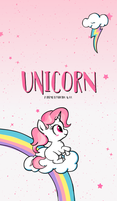 Cute Unicorn Theme Pink Version
