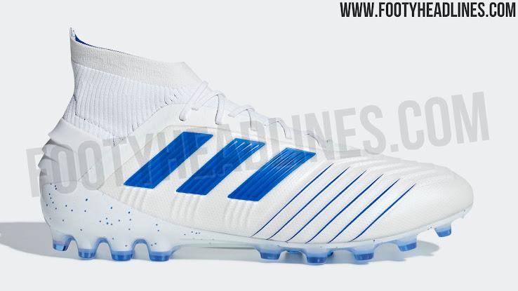Elegante Weiss Blaue Adidas Predator Virtuoso Pack 2019