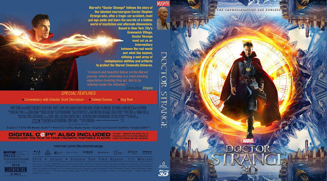 Doctor Strange 3D Bluray Cover