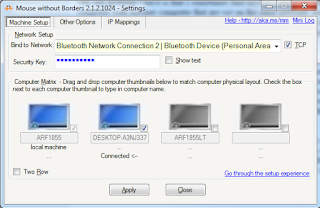 Mouse Without Borders main configuration screen