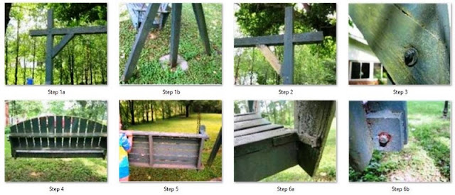 Yard swing instructions step 1 - 6