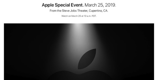 Apple is sending invitations to attend an event on March 25 at Steve Jobs Theater in Cupertino