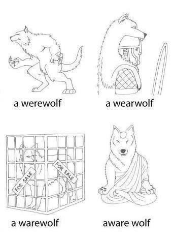 Meme de humor sobre hombres lobo
